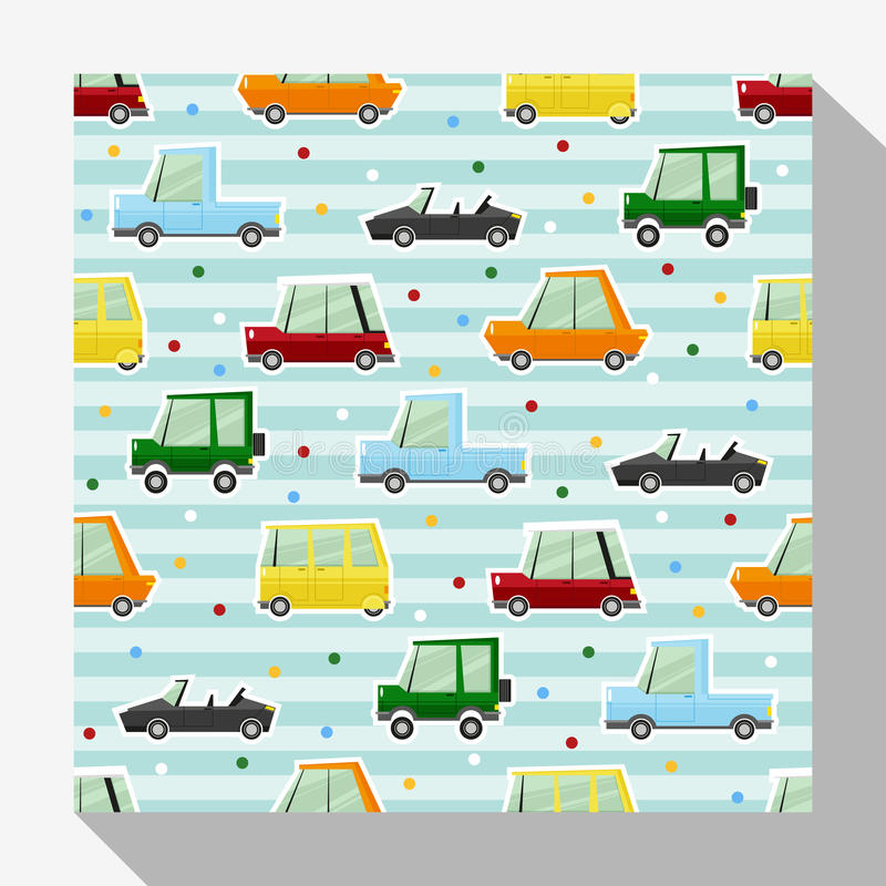 Download Seamless Pattern Collection With Car Stock Vector - Image: 83709921