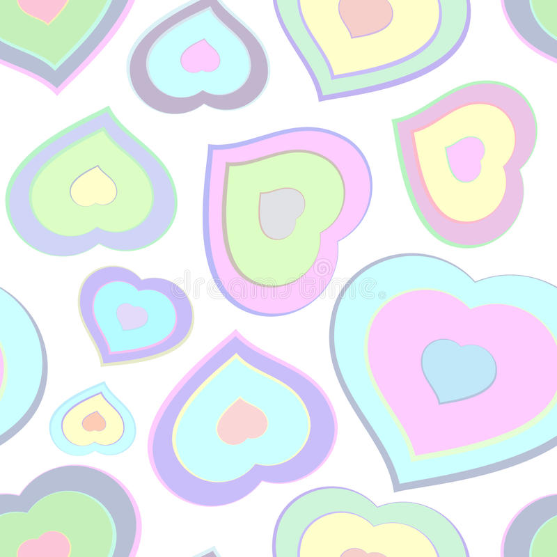 Seamless pattern from color hearts. Vector illustration stock illustration