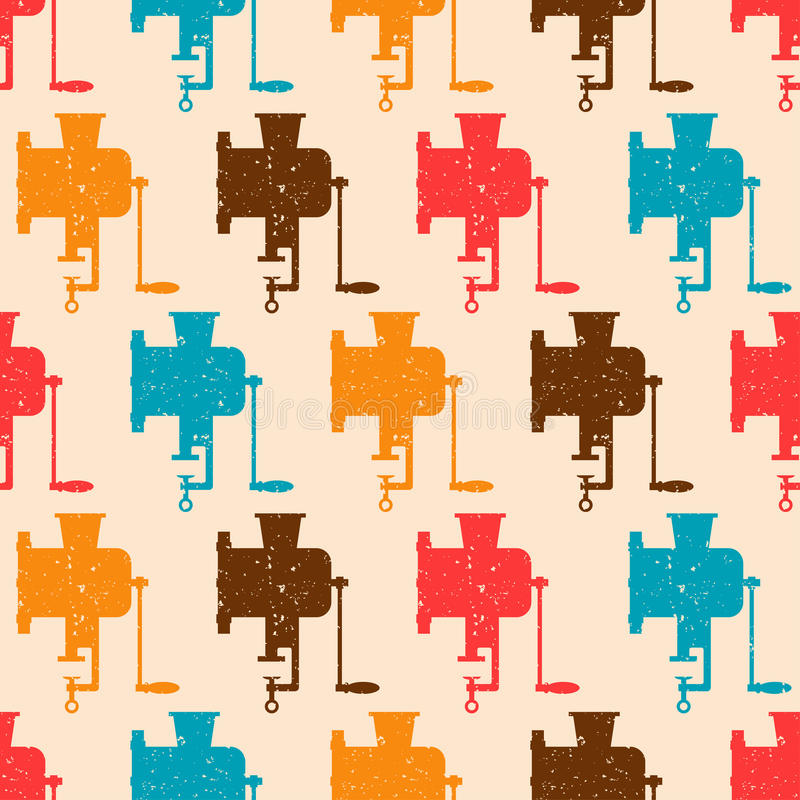 Download Seamless Pattern With Color Retro Grinders Stock Vector - Image: 34264033