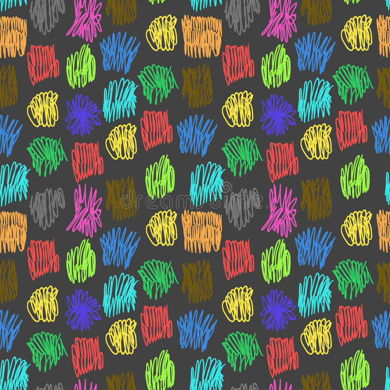 Seamless Pattern With Color Scrawl Stock Photos