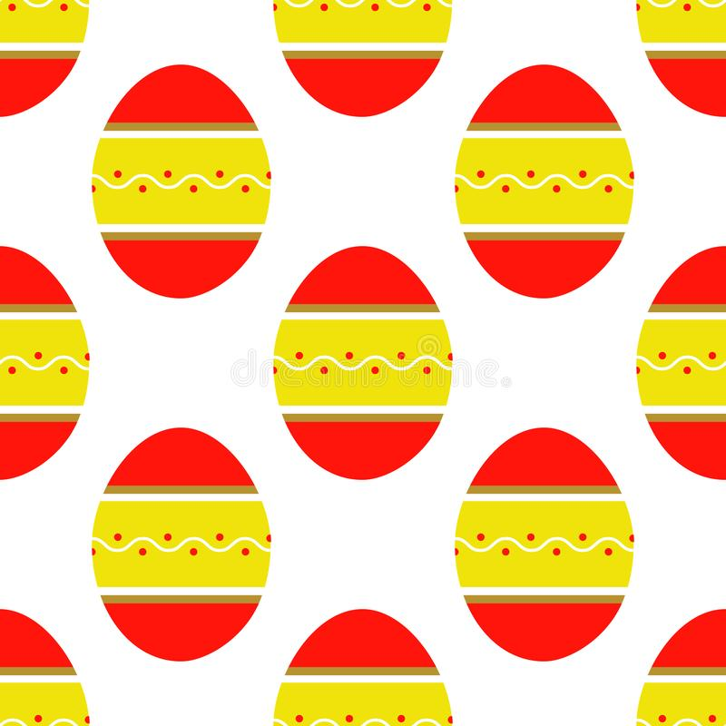 Seamless pattern of colorful bright decorated eggs vector illustration