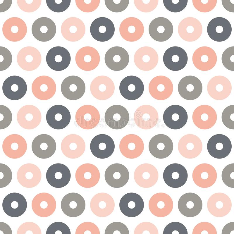 Seamless pattern with colorful circles royalty free illustration
