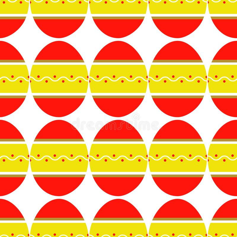 Seamless pattern of colorful bright decorated eggs royalty free illustration