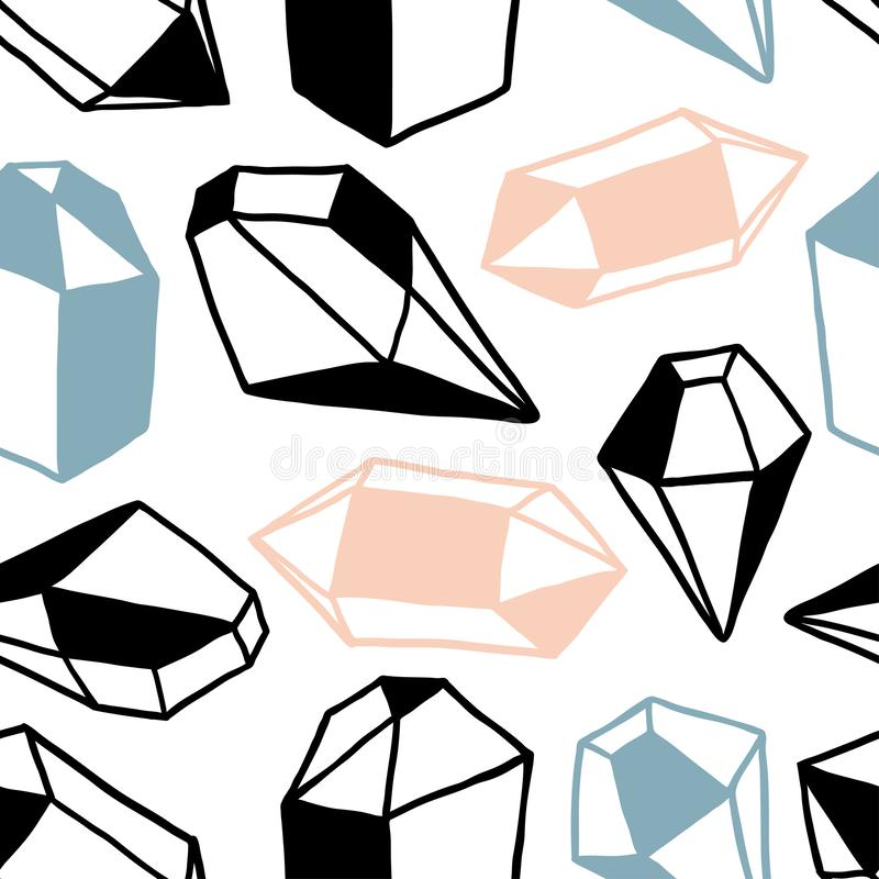 Seamless pattern with colorful diamonds royalty free illustration