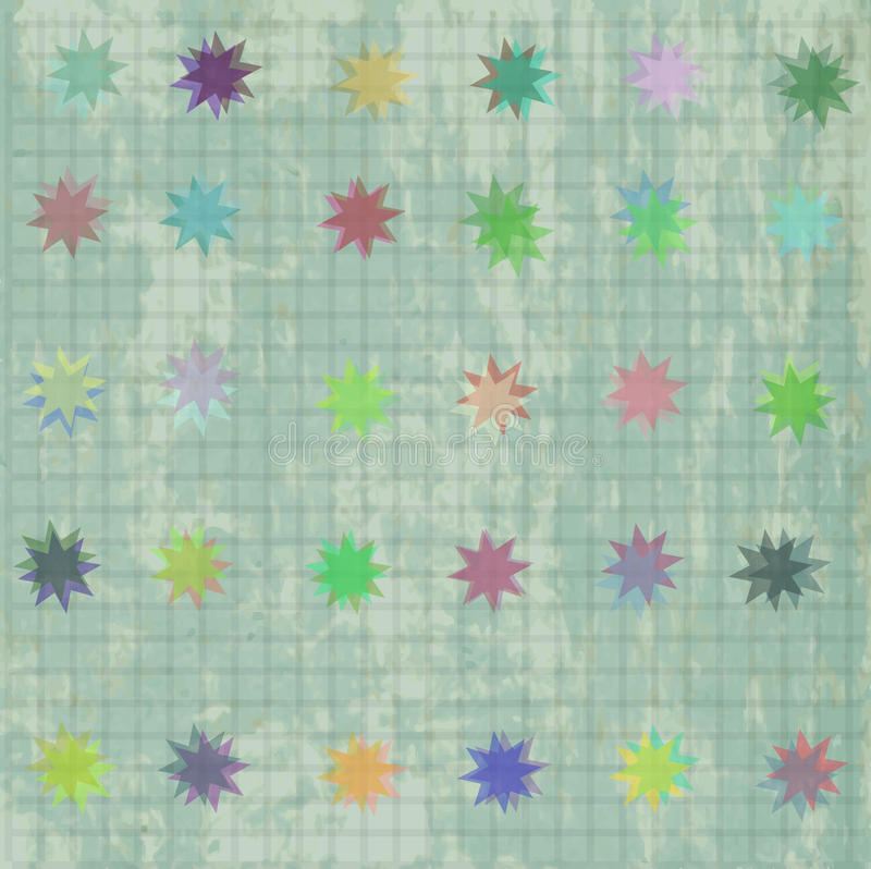 Download Seamless Pattern With Colorful Texture And Stars Stock Vector - Image: 25400164