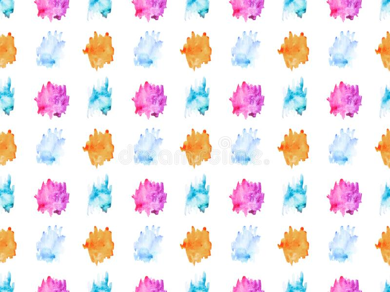 seamless pattern with colorful watercolor paint spots, vector illustration