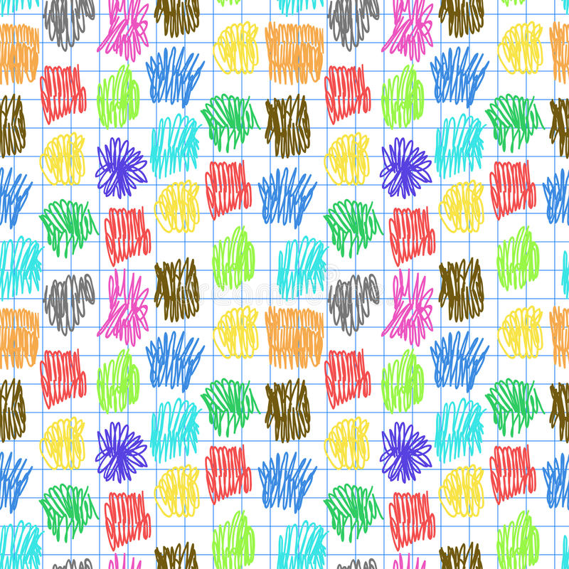 Download Seamless Pattern With Colour Scrawl Stock Images - Image: 34742694
