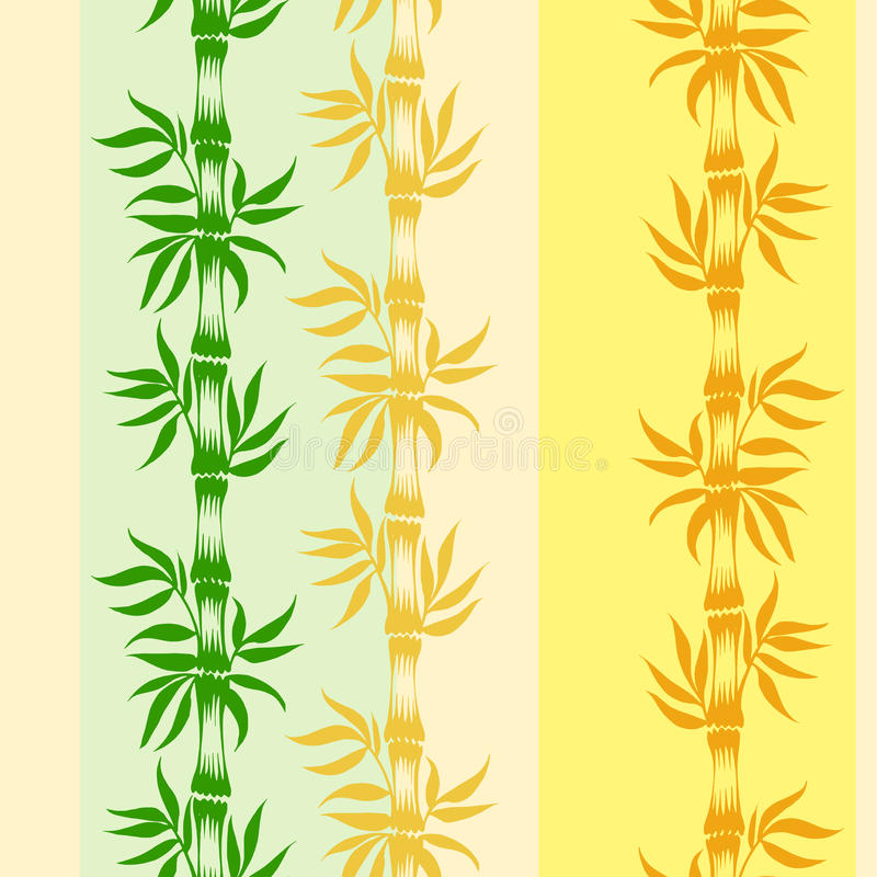 Seamless pattern. Coloured seamless pattern with motive of bamboo stock illustration
