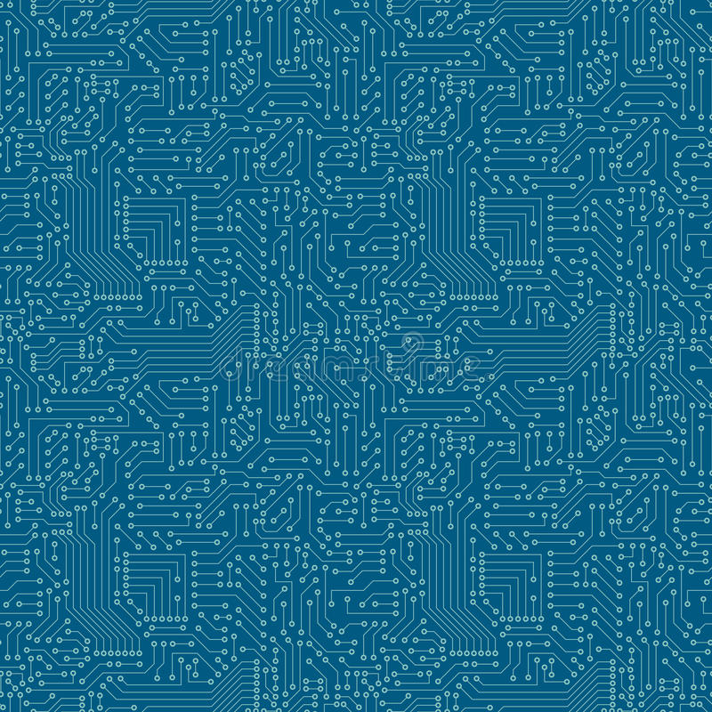 Free Seamless Pattern. Computer Circuit Board. Royalty Free Stock Photography - 43532477