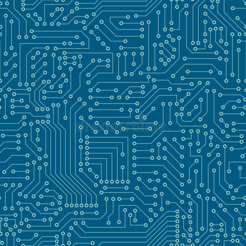 Seamless Pattern. Computer Circuit Board. Stock Vector ...