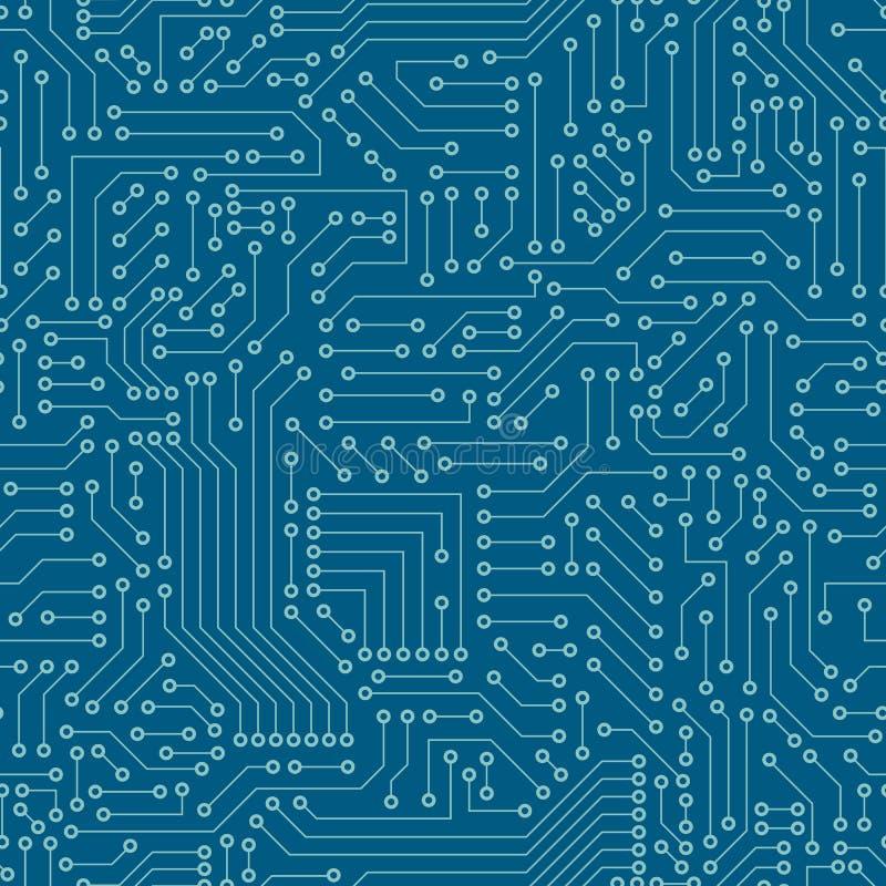 Seamless pattern. Computer circuit board. stock illustration