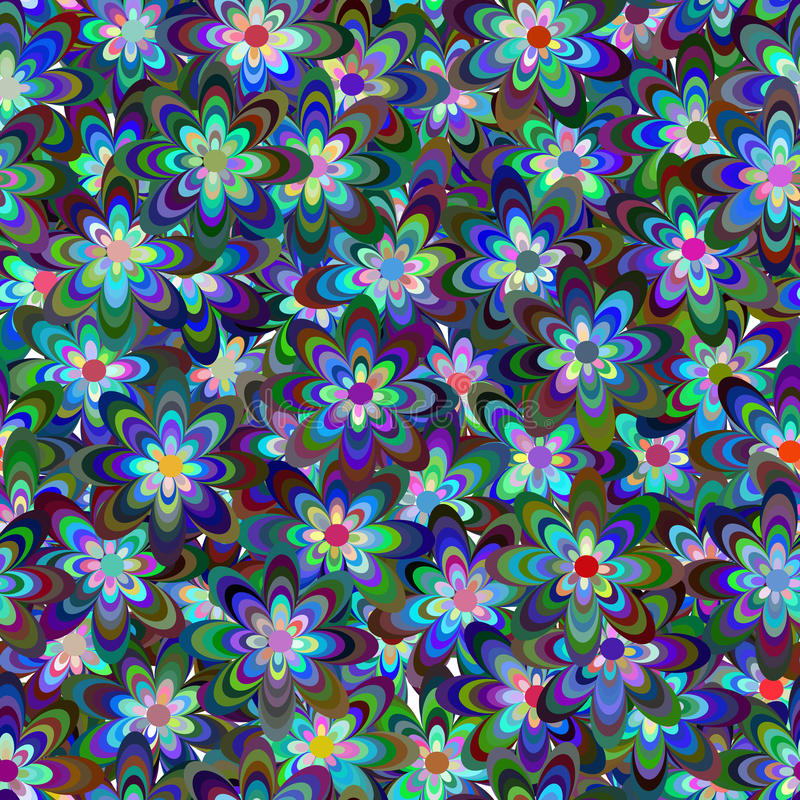 Seamless pattern consist of flowers. Seamless pattern consisting of multi-colored flowers stock illustration