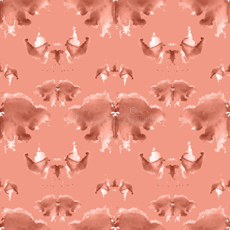 Seamless pattern , consisting of a modified watercolor blots depicting Rorschach royalty free illustration