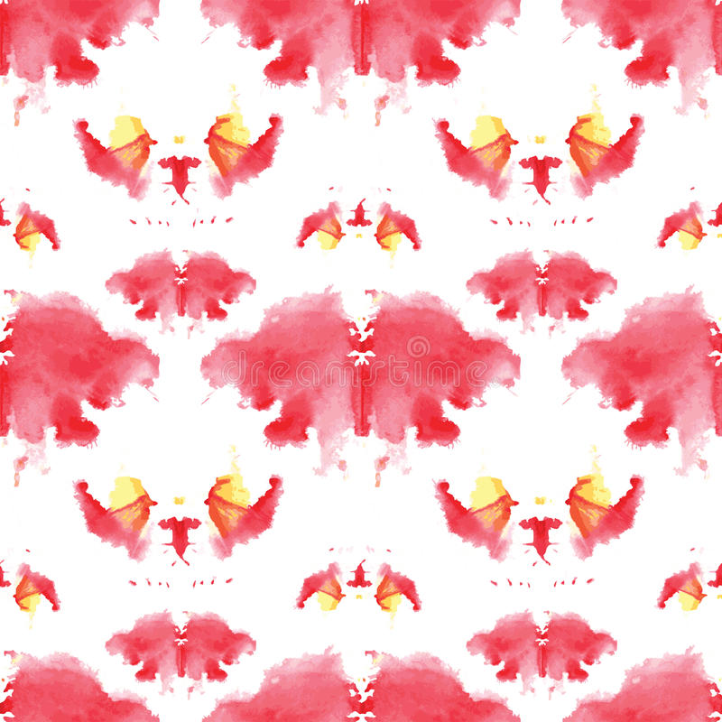 Seamless pattern , consisting of a modified watercolor blots depicting Rorschach vector illustration