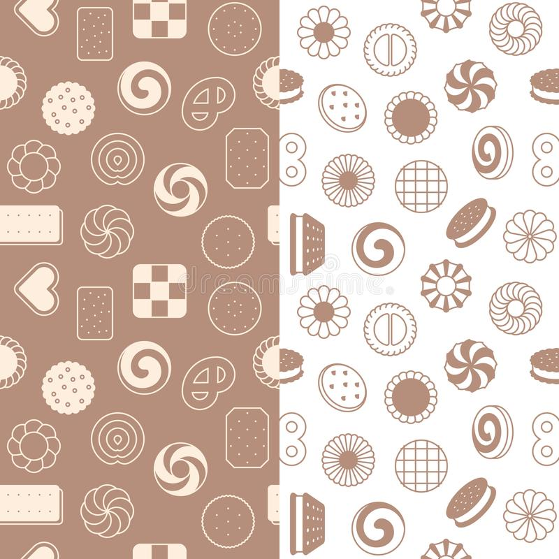 Seamless pattern of cookies stock illustration