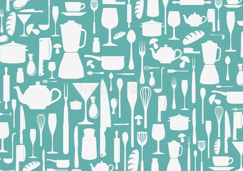 Seamless pattern with cooking icons background royalty free illustration
