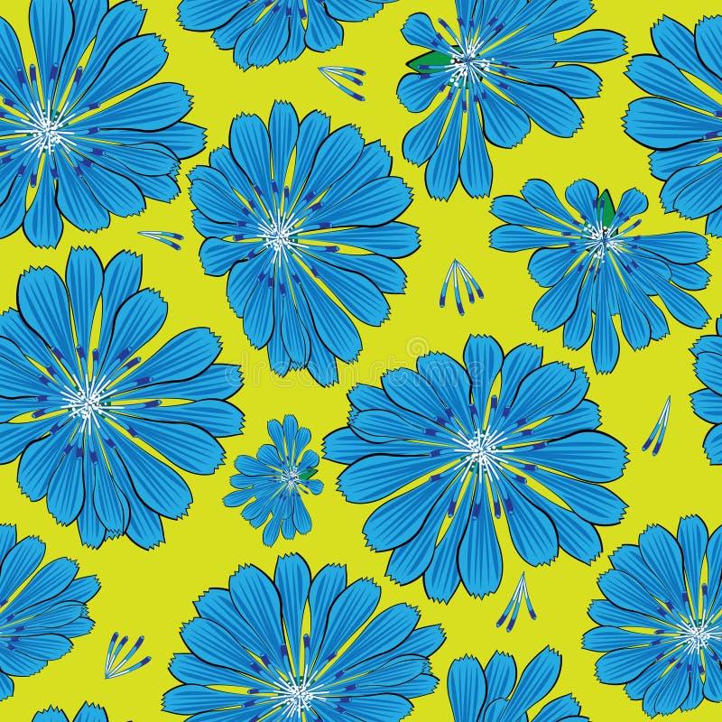 Seamless pattern cornflower flowers stock image