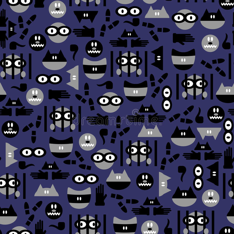 Download Seamless Pattern With Criminals Stock Vector - Illustration: 28550550