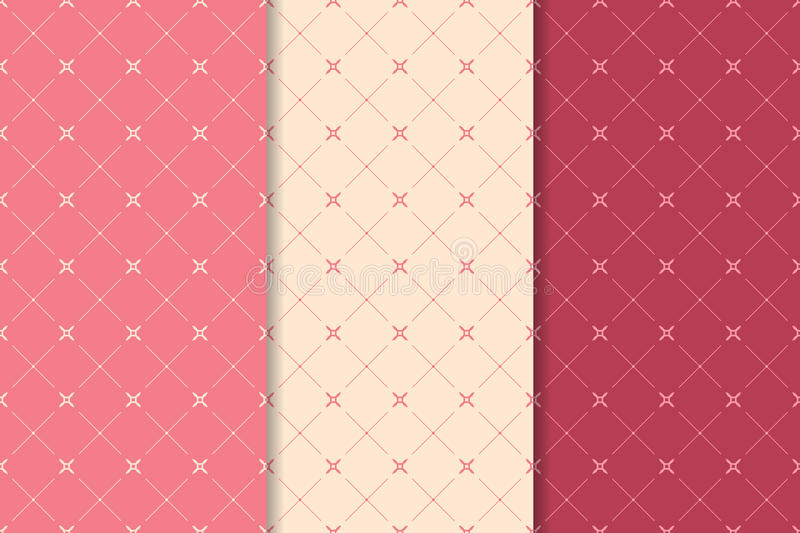 Seamless pattern with cross elements. Red background vector illustration
