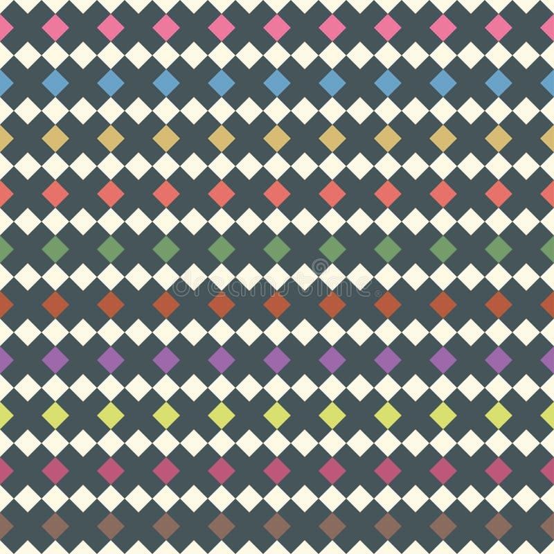 Seamless pattern of cross, rhombus. Vector backdrop. stock illustration