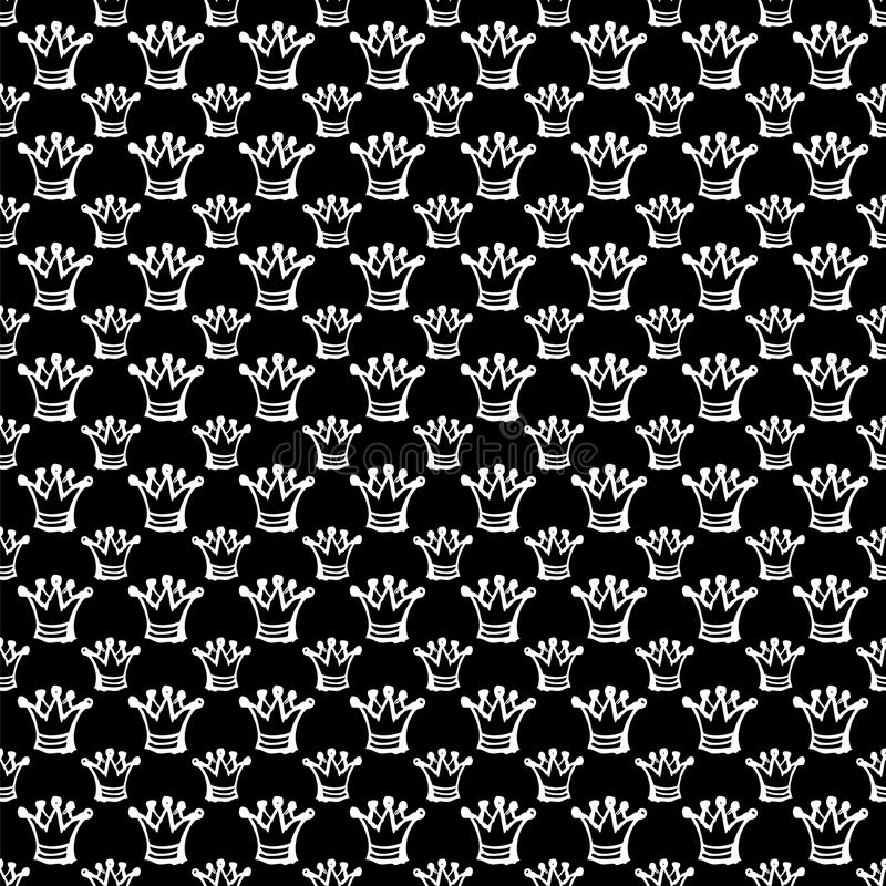 Seamless pattern with crown stock illustration