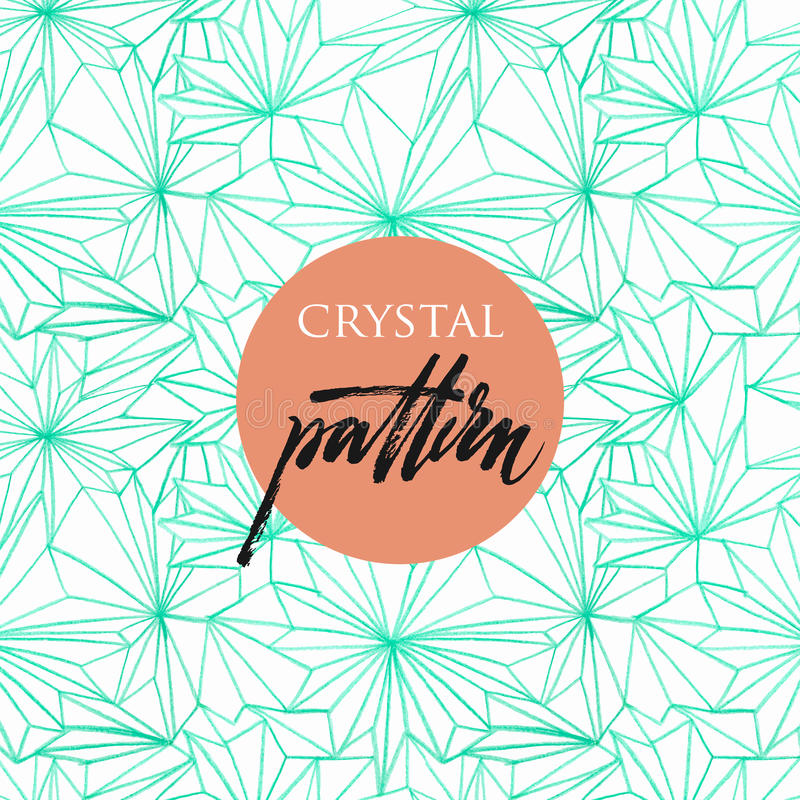 Seamless pattern of crystals royalty free illustration