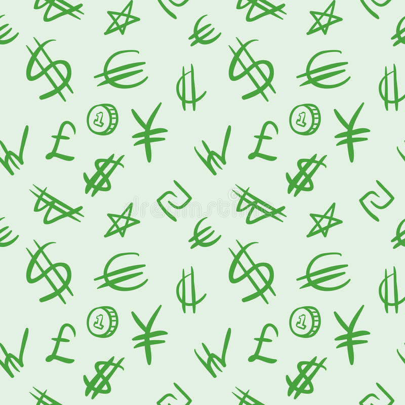Download Seamless Pattern With Currency Symbols. Stock Vector - Illustration: 20899750