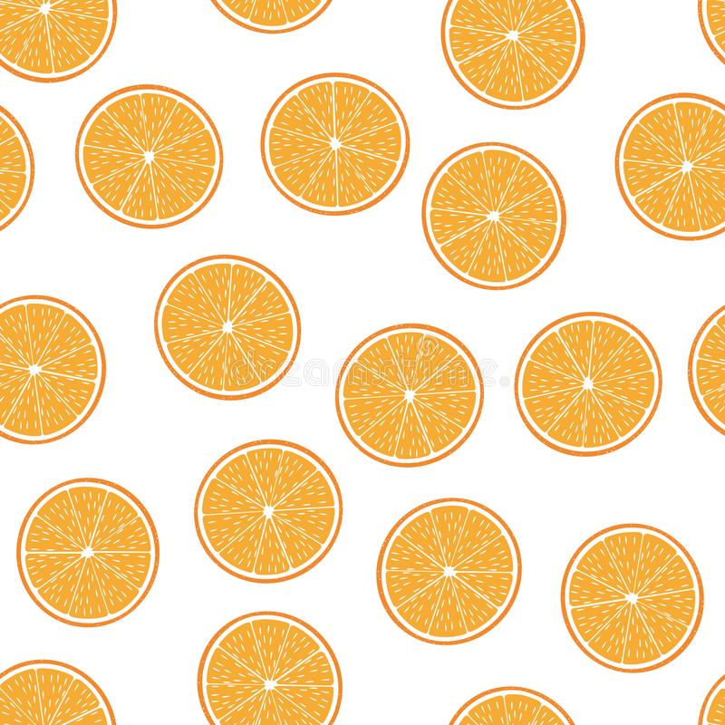 Seamless pattern from cut half oranges royalty free illustration
