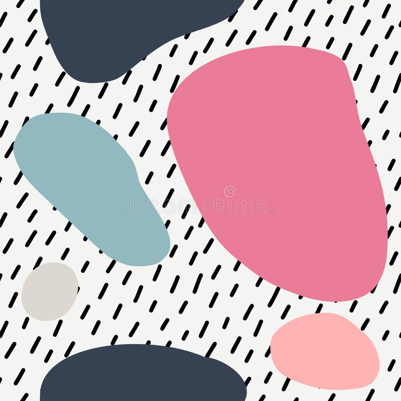 Seamless pattern with cut out elements. stock photos