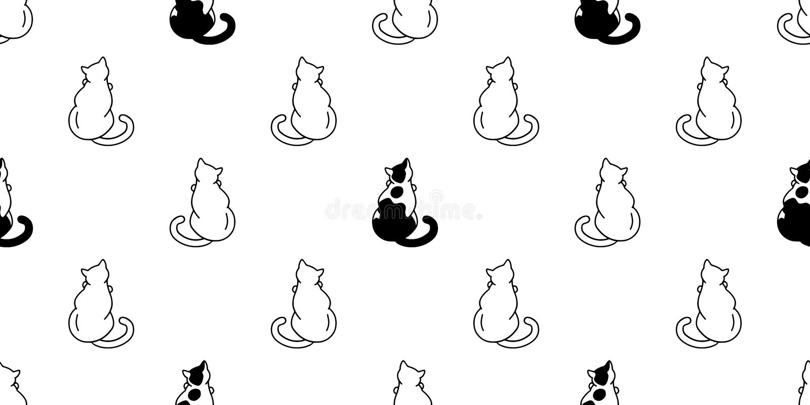 Cute Black And White Cats Stock Vector Illustration Of Cats 94663842