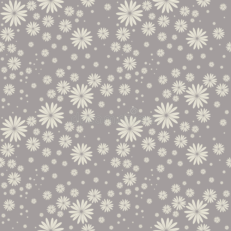 Seamless pattern cute chamomile flowers. Elegant background can be used for wallpaper, linen, bedclothes, textile, cover, card and more creative designs royalty free illustration