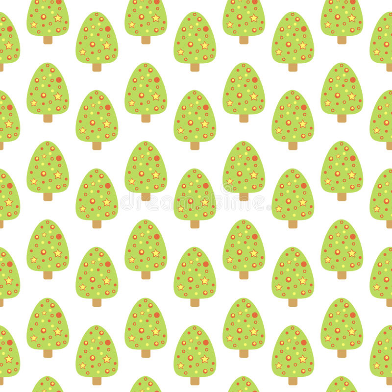 Download Seamless Pattern With Cute Christmas Tree. Stock Vector    Illustration Of Fir, Christmas