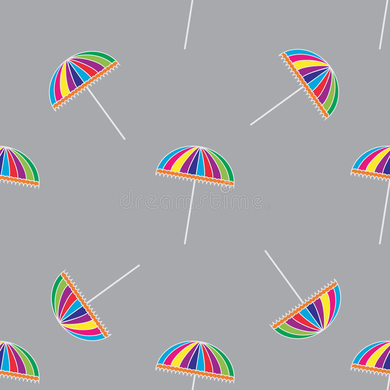 Seamless pattern with cute colorful umbrellas. Vector background vector illustration