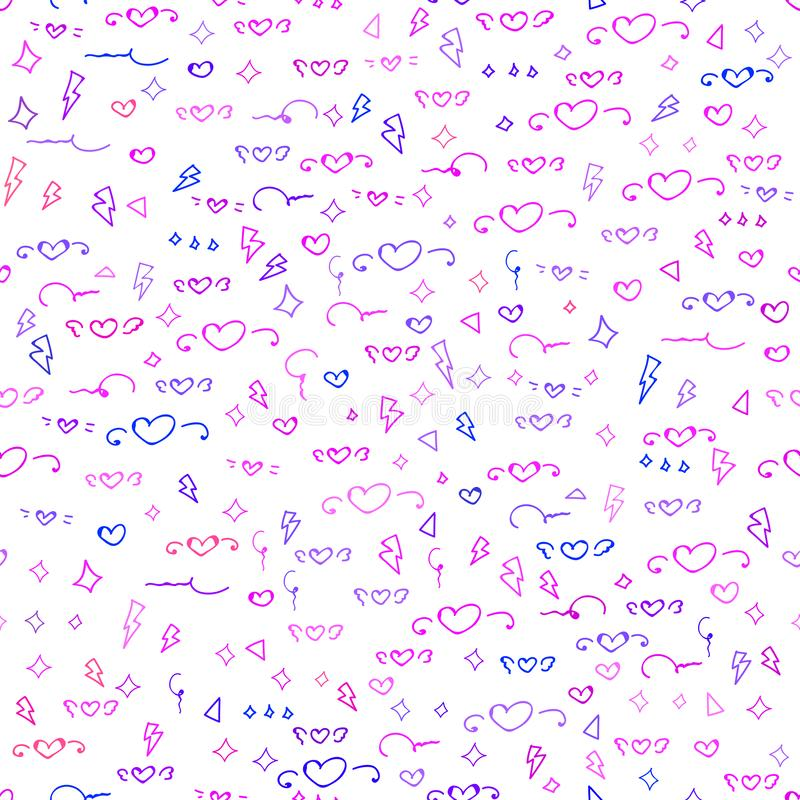 Seamless pattern with cute heart pattern background. vector illustration