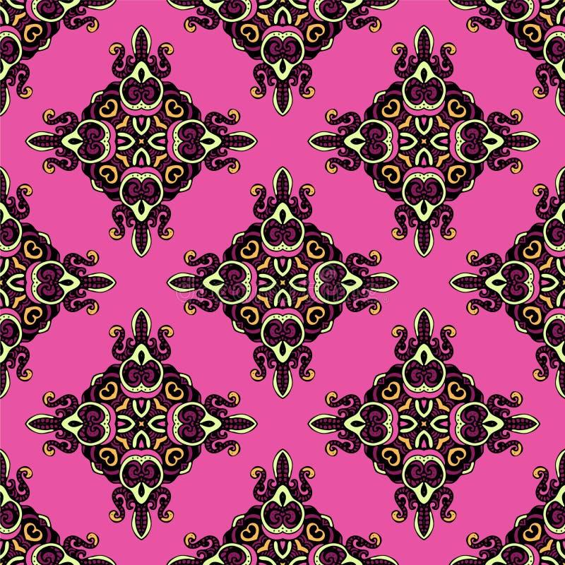 Free Seamless Pattern Damask Rhombs Vector Stock Image - 34123871