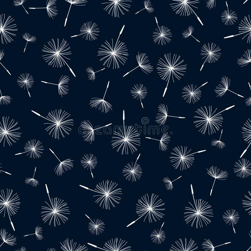 Download Seamless Pattern With Dandelion Fluff Stock Vector   Illustration  Of Black, Backdrop: 42981223