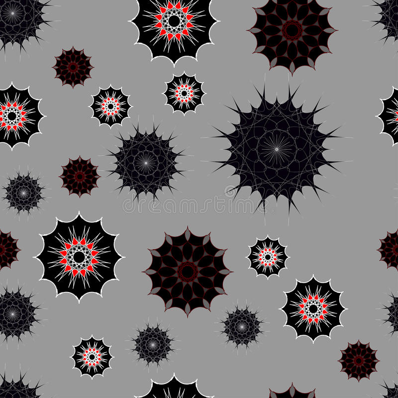 Seamless pattern in dark colours royalty free stock images
