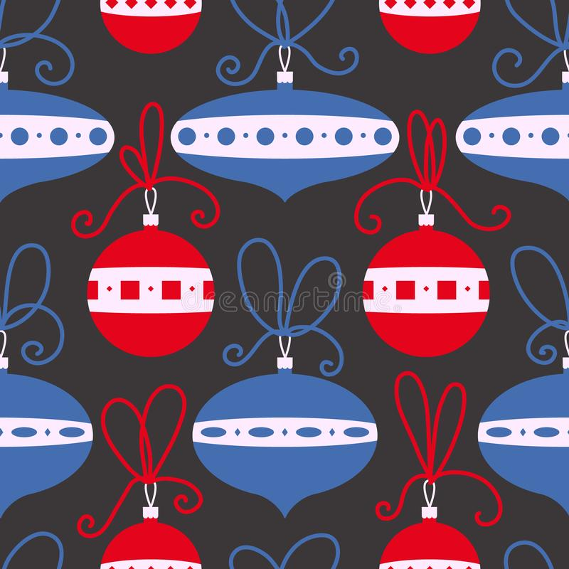 Download Seamless Pattern With Decoration Balls. Christmas Background. Stock Vector - Illustration: 104761542