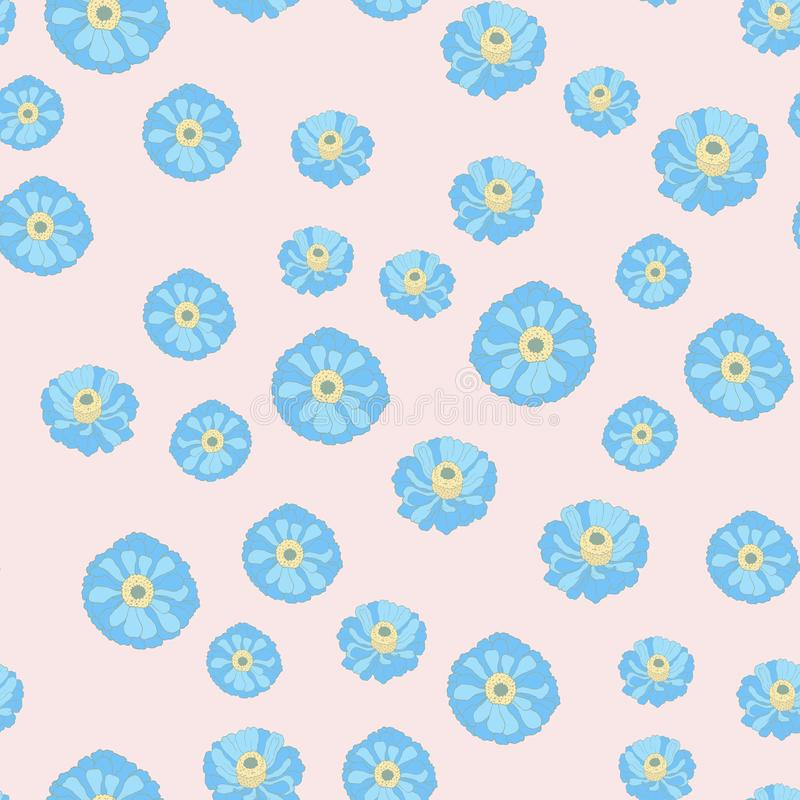 Blue flower.Narcissus.Seamless pattern for decoration and design. vector illustration