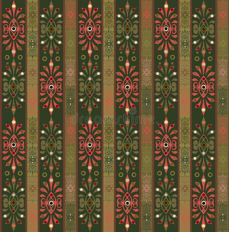 Seamless pattern. With decorative elements stock illustration
