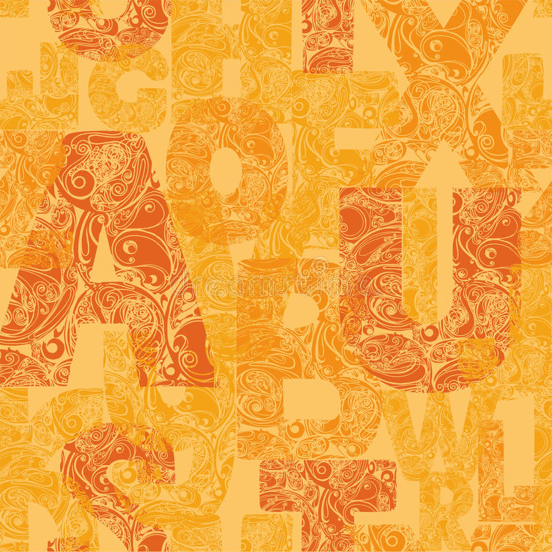 Seamless pattern with decorative letters. Modern vector background royalty free stock images