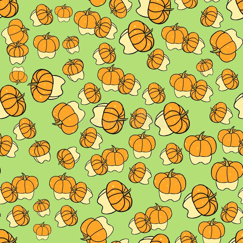 Seamless pattern with decorative pumpkins royalty free illustration