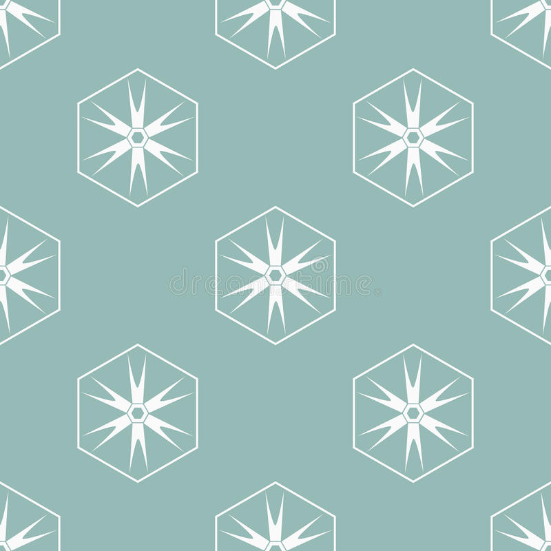 Seamless pattern. With decorative snowflakes vector illustration