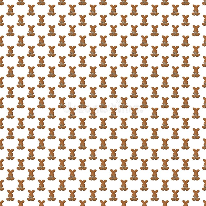 Seamless pattern. Design element for wallpaper, wrapping paper, textile prints and etc. Easter rabbit cover design. White color royalty free illustration