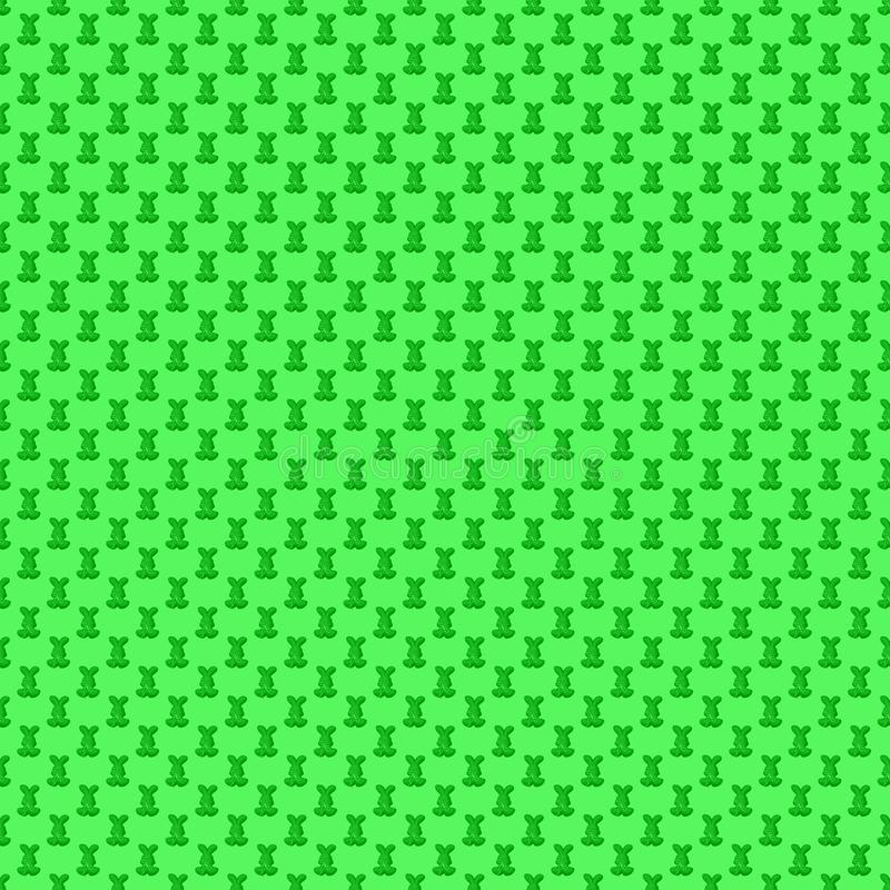 Seamless pattern. Design element for wallpaper, wrapping paper, textile prints and etc. Easter rabbit cover design. Green color vector illustration