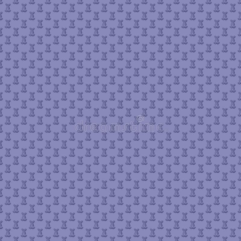 Seamless pattern. Design element for wallpaper, wrapping paper, textile prints and etc. Easter rabbit cover design. Lavender color vector illustration
