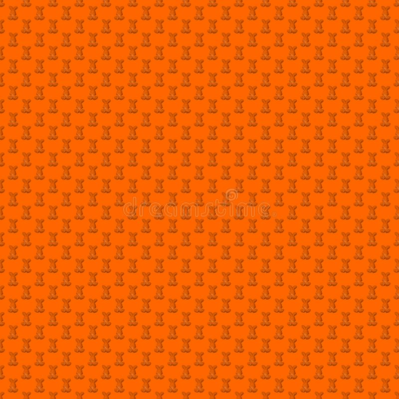 Seamless pattern. Design element for wallpaper, wrapping paper, textile prints and etc. Easter rabbit cover design. Orange color vector illustration