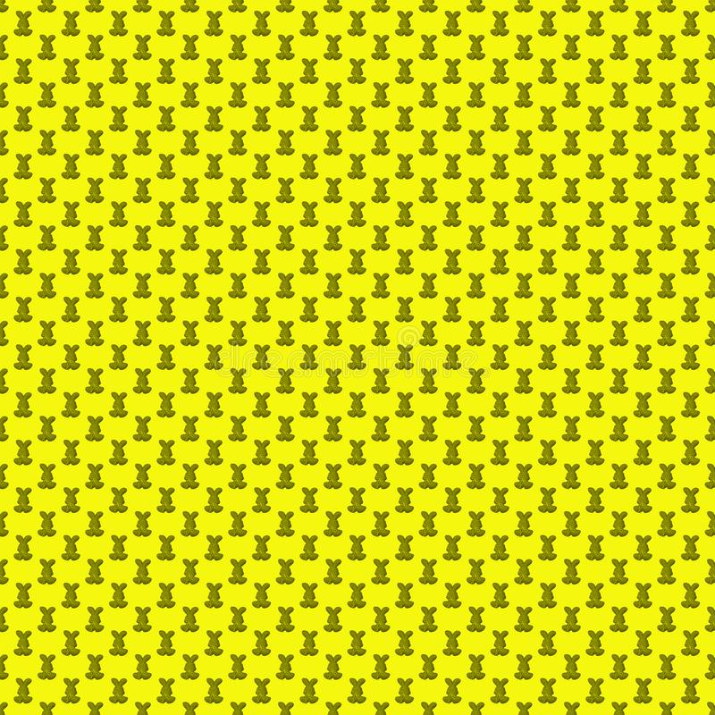 Seamless pattern. Design element for wallpaper, wrapping paper, textile prints and etc. Easter rabbit cover design. Yellow color stock illustration