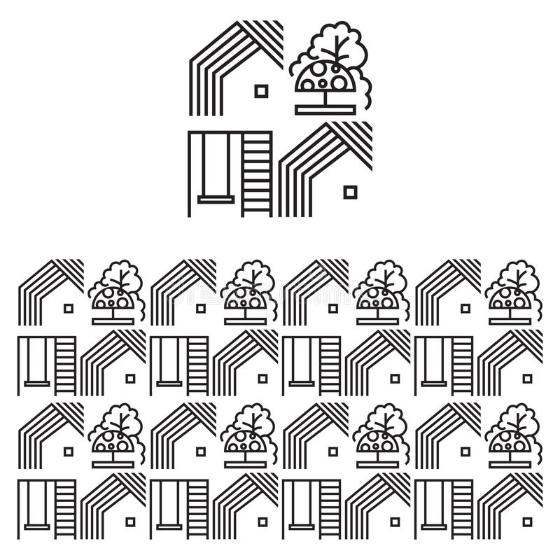 Seamless pattern for the design of social networks, sites on the topic of utilities stock illustration