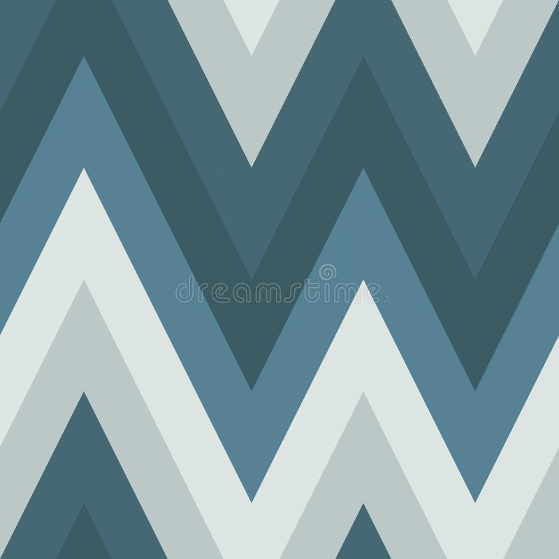 Seamless pattern of diagonals in cold colors. Gray and blue shades. Geometric pattern, simple shapes stock illustration